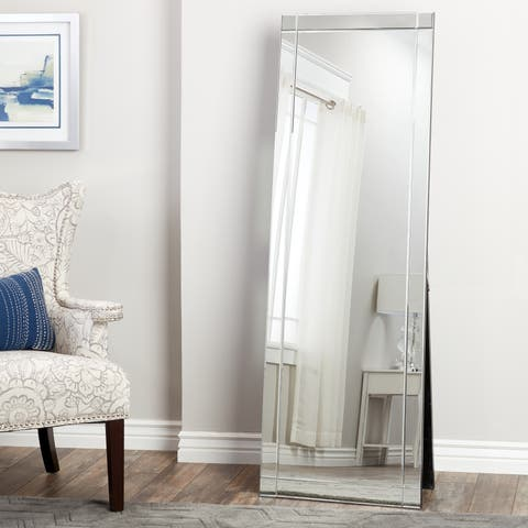 Clarendon Glam Standing Floor Mirror - Silver By Abbyson