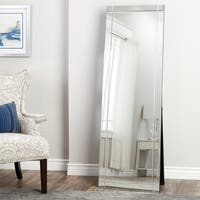 Abbyson Clarendon Standing Floor Mirror - Silver