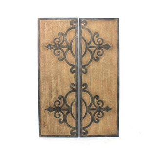 Teton Home Metal and Wood Wall Plaque