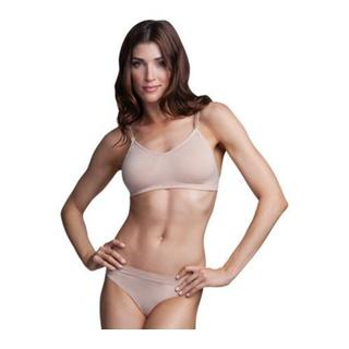 Women's Capezio Dance Seamless Clear Back Bra Nude