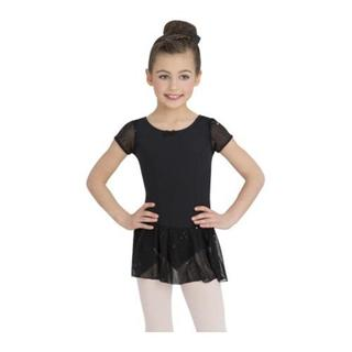 Girls' Capezio Dance Sequin Puff Sleeve Dress Black|https://ak1.ostkcdn.com/images/products/10321198/P17432202.jpg?impolicy=medium