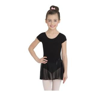 Girl's Capezio Black Dance Short Sleeve Nylon Dress|https://ak1.ostkcdn.com/images/products/10321206/P17432210.jpg?_ostk_perf_=percv&impolicy=medium