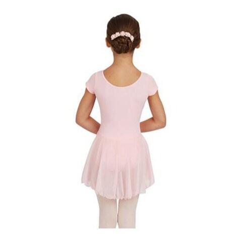 Girls' Capezio Dance Short Sleeve Nylon Dress Pink