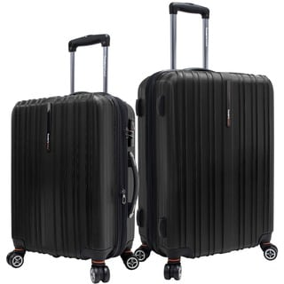 Traveler's Choice Tasmania Black 2-piece Hardside Spinner Luggage Set
