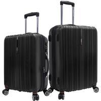 Traveler's Choice Tasmania Black 2-piece Hardside Spinner Luggage Set