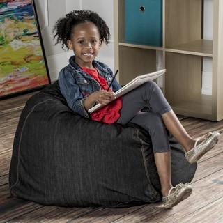 Jaxx Denim Kids Bean Bach Chair with Handle
