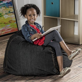 Jaxx Denim Kids Bean Bach Chair with Handle