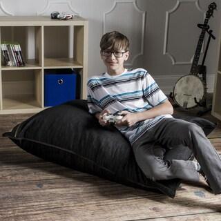 Denim 3.5-foot Pillow Sack Lounger by Jaxx