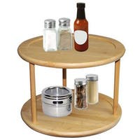 Home Basics Bamboo 2-tier Lazy Susan