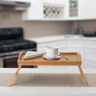 Home Basics Bamboo Bed Serving Tray