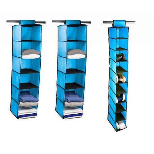 Home Basics 3 Piece Closet Organizer Set, Sweater And Shoe Rack