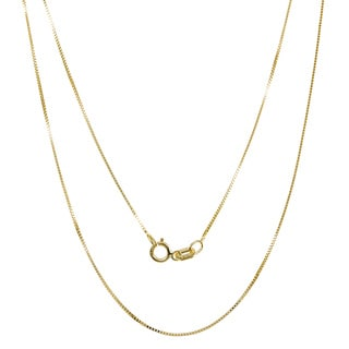 Pori 10k Yellow Gold Box Chain Necklace