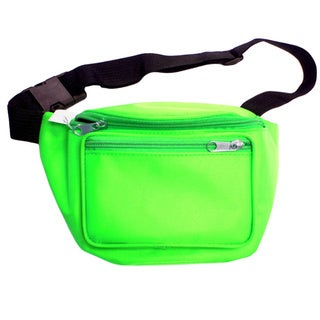 Neon Green Fanny Pack Bag Rave Club Bum Festival 2 Pocket Adjustable Strap