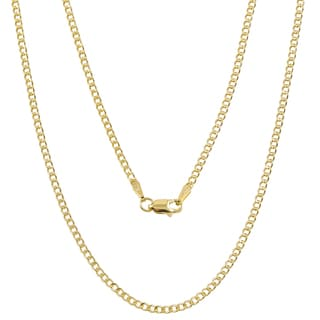 Pori 10k Yellow Gold Cuban Chain Necklace