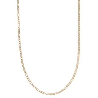 Pori 10k Yellow Gold Figaro Chain Necklace