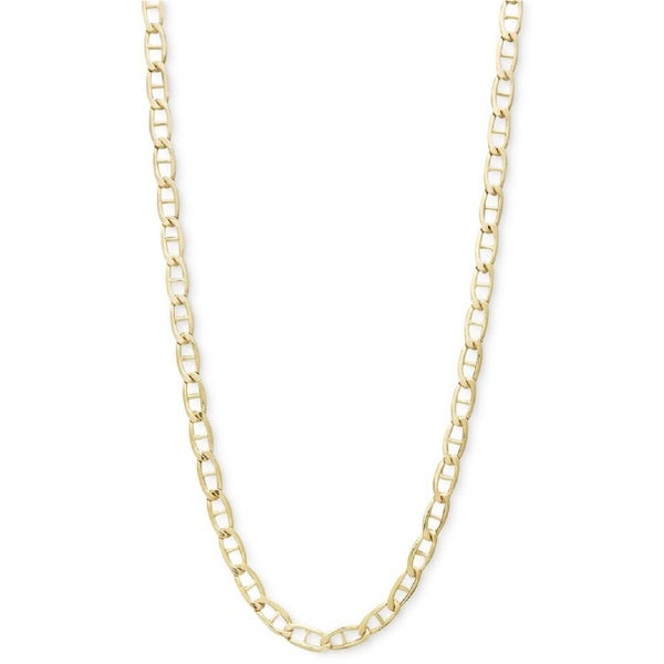 7d66046170c Shop Pori 10k Yellow Gold Marina Chain Necklace - Free Shipping ...