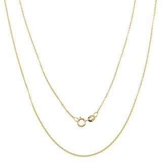 Pori 10k Yellow Gold Rolo Chain Necklace