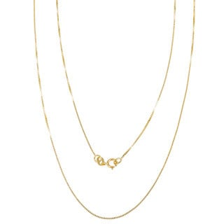 Pori 14k Yellow Gold Box Chain Necklace