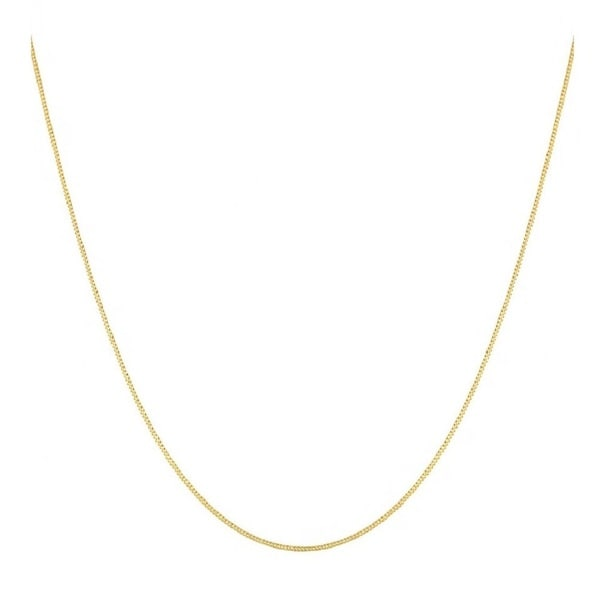 dfe9b3323 Shop Pori 14k Yellow Gold Cuban Chain Necklace - Free Shipping Today -  Overstock - 10324242