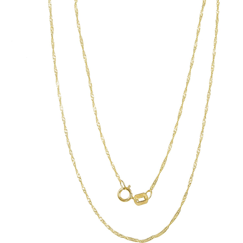 Pori 14k Yellow Gold Singapore Chain Necklace (20 Inch), ...