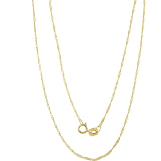 Pori 14k Yellow Gold Singapore Chain Necklace