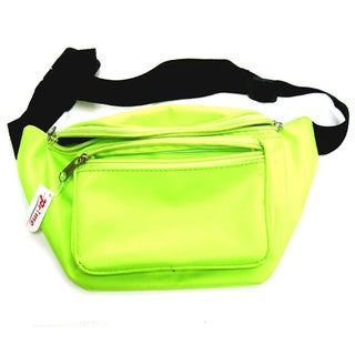 Neon Yellow Fanny Pack Bag Rave Club Bum Festival 2 Pocket Adjustable Strap