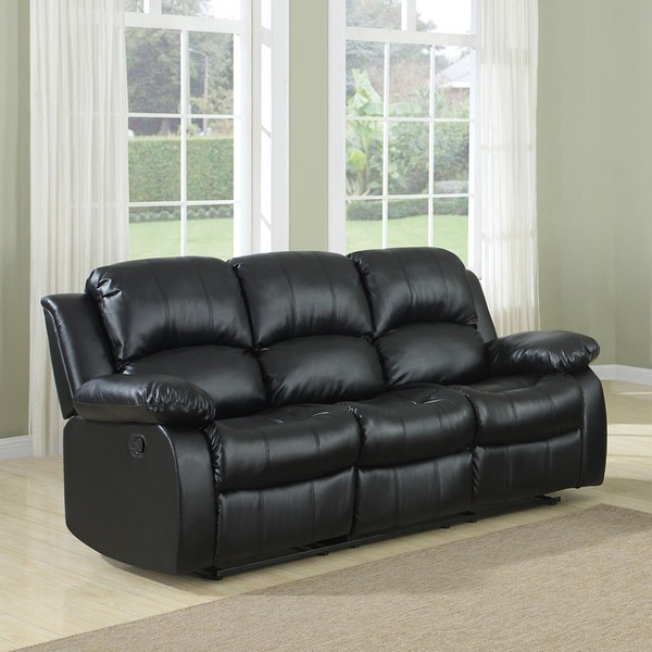 3-seat Double Recliner Bonded Leather Sofa & 3-seat Double Recliner Bonded Leather Sofa - Free Shipping Today ... islam-shia.org
