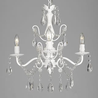 Wrought Iron and Crystal White 4-light Chandelier Pendant|https://ak1.ostkcdn.com/images/products/10324304/P17435036.jpg?impolicy=medium