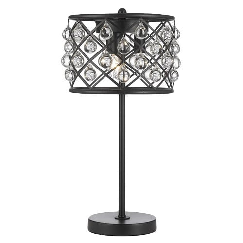 Shop Spencer Table Lamp Crystal Spheres Iron 3 Light Table Lamp