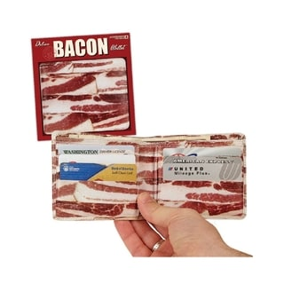 Bacon Wallet Faux Leather Novelty