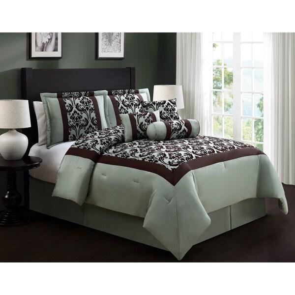 Journee Home 'Antilla' 7 pc Patterned Comforter Set