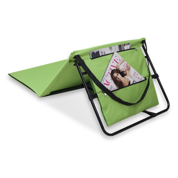 danya b set of 2 portable beach lounge chairs with pockets and carry straps green free shipping today
