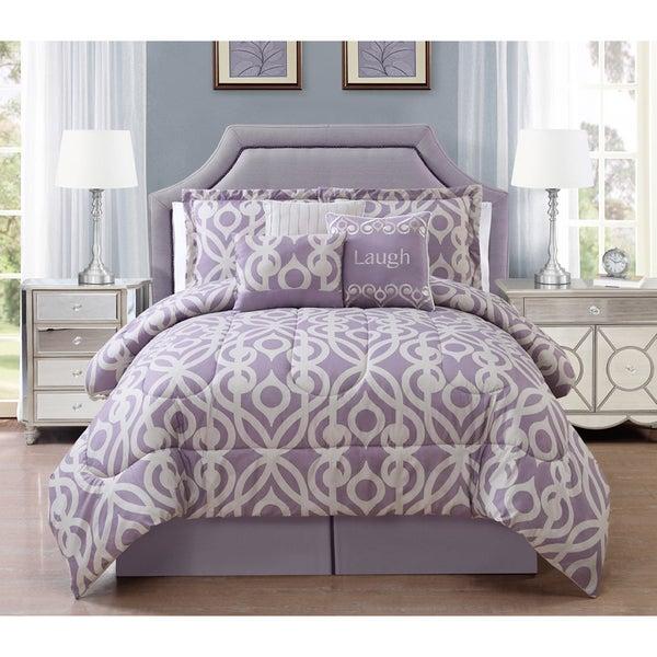 Journee Home 'Girona' 7 pc Patterned Comforter Set