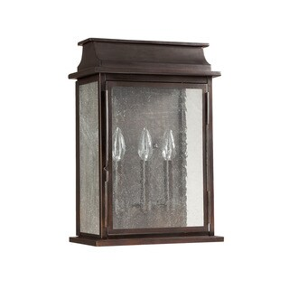 Capital Lighting Bolton Collection 3-light Old Bronze Outdoor Wall Lantern