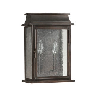 Capital Lighting Bolton Collection 2-light Old Bronze Outdoor Wall Lantern