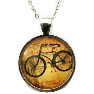 Atkinson Creations- Vintage Bicycle Hipster Necklace
