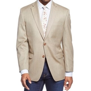 Men's Designer Tan Basket Weave Sport Coat
