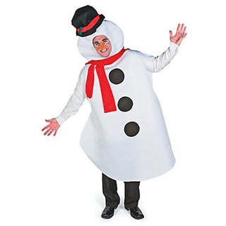 Adult White and Black Snowman Costume