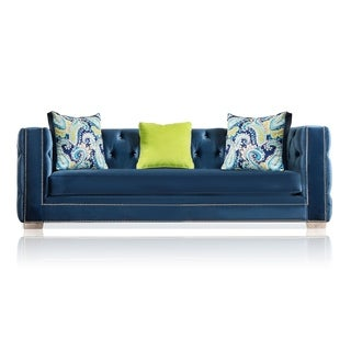 Furniture of America Giselle Contemporary Premium Velvet Sofa