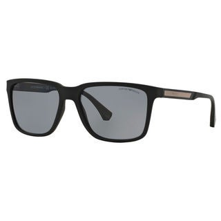 Emporio Armani Men's EA4047 Square Polarized Sunglasses