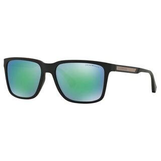 Emporio Armani Men's EA4047 Plastic Square Sunglasses
