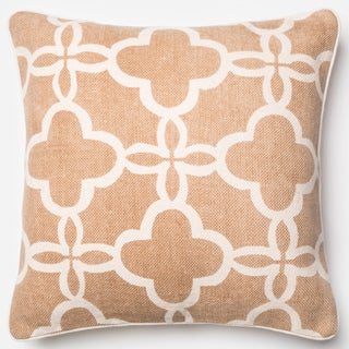 Ledbury Beige/ Ivory Marakesh Down Feather or Polyester Filled 22-inch Throw Pillow or Pillow Cover