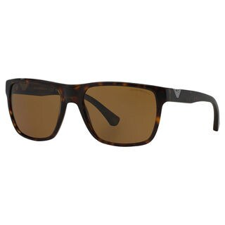 Emporio Armani Men's EA4035 Plastic Square Polarized Sunglasses