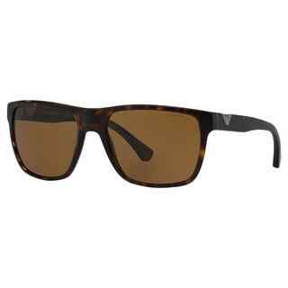 Emporio Armani Men's EA4035 Plastic Square Polarized Sunglasses