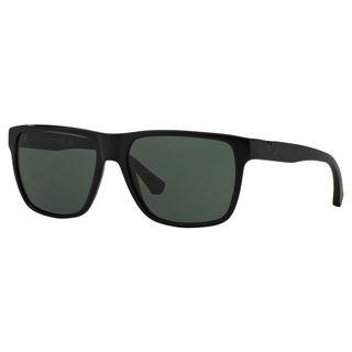 Emporio Armani Men's EA4035 Plastic Square Sunglasses