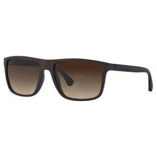 Emporio Armani Men's EA4033 Plastic Square Sunglasses
