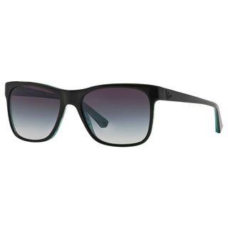 Emporio Armani Men's EA4002 Plastic Square Sunglasses
