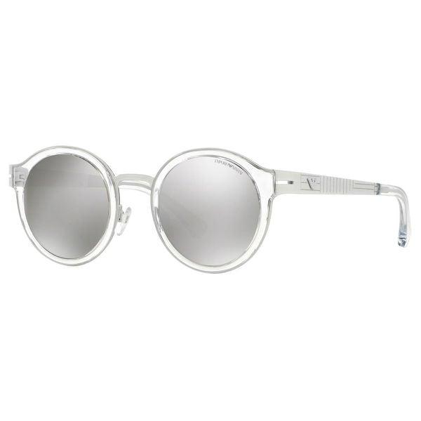 a9a3a65ab44c Shop Emporio Armani Men's EA2029 Metal Round Sunglasses - White ...