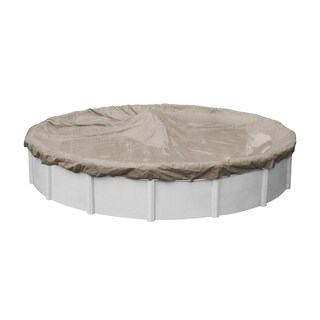 Pool Mate Sandstone Above Ground Winter Pool Cover for Round Pools