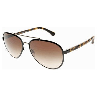 Emporio Armani Men's EA2024 Metal Pilot Sunglasses